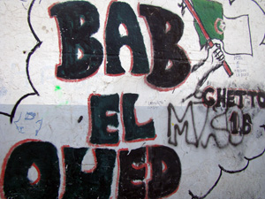tag sur les murs de Bal El Oued
