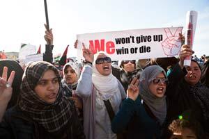 Manifestation de femmes en libye