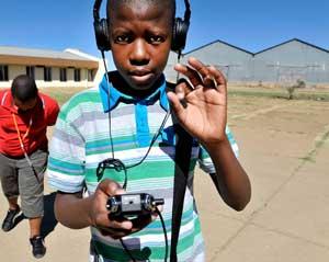 Jeune reporter radio (Afrique du Sud)