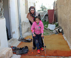 Les causes et types de blessures des personnes déplacées en Syrie