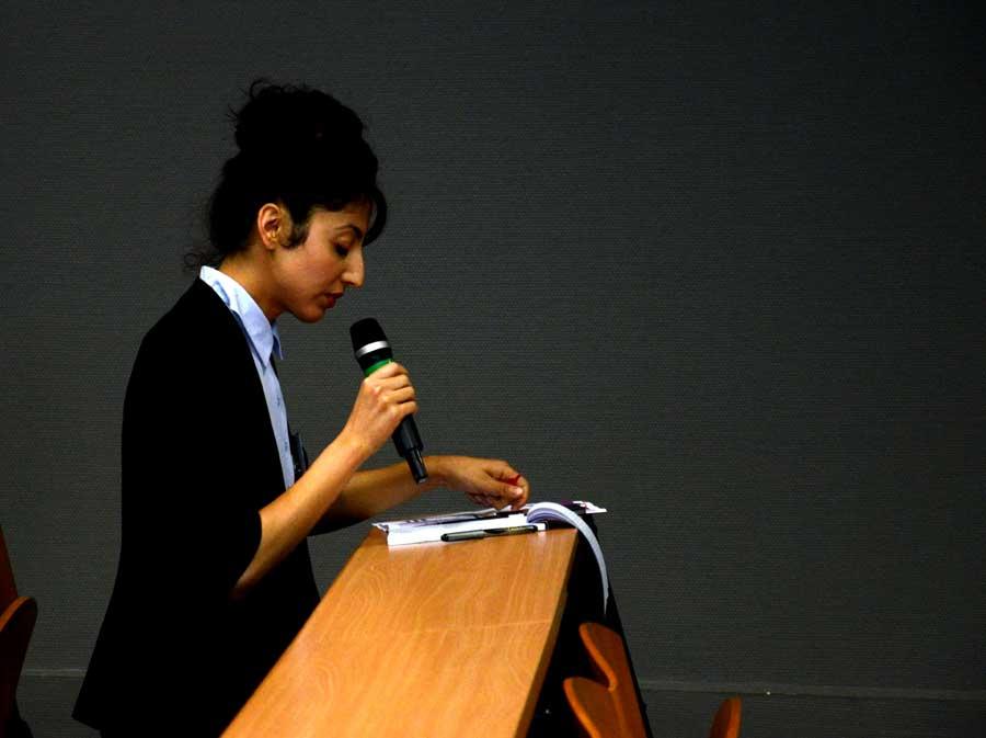Sihem Djebbi (Chargée de conférence à Paris 13) © Genevieve Sababadichetty